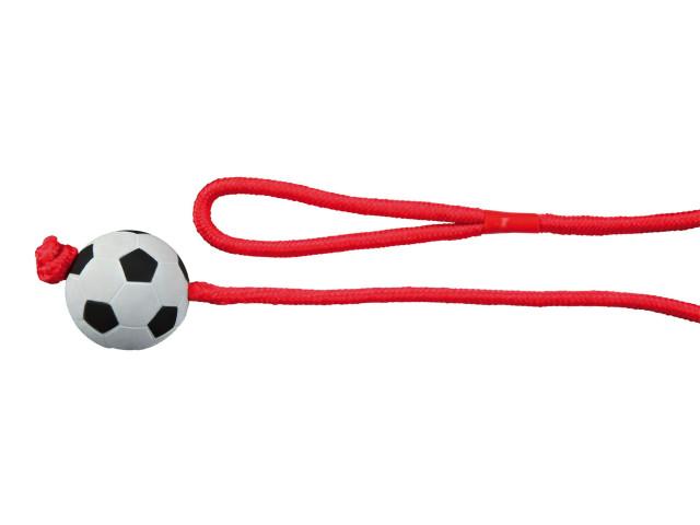 Trixie Jucarie Minge Fotbal 6 cm cu Sfoara 1 m 3307 [0]