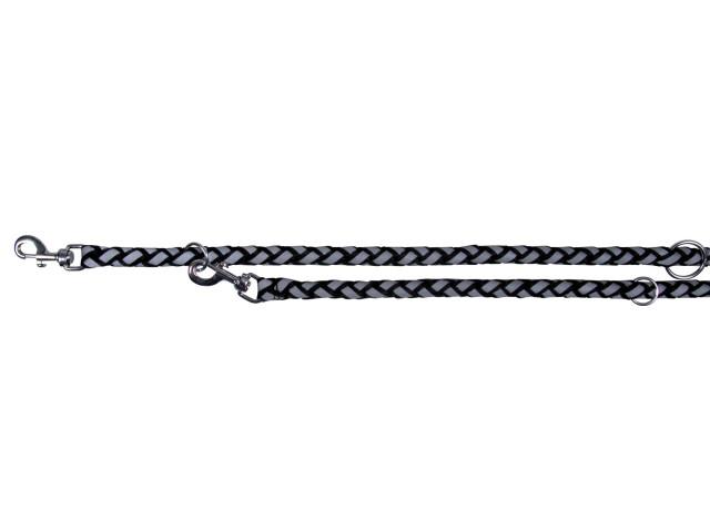 Trixie Lesa Coarda Reflectorizant 12 mm/2 m Negru 13581 [0]