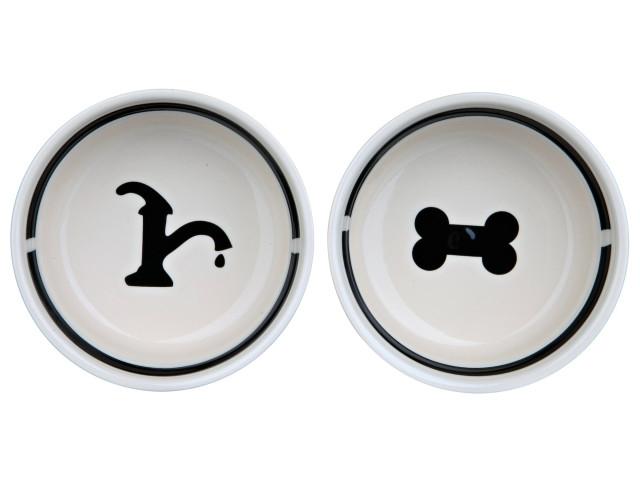 Trixie Castron Ceramica Set 2 buc In Suport 0.25 l/13 cm 24640 [1]