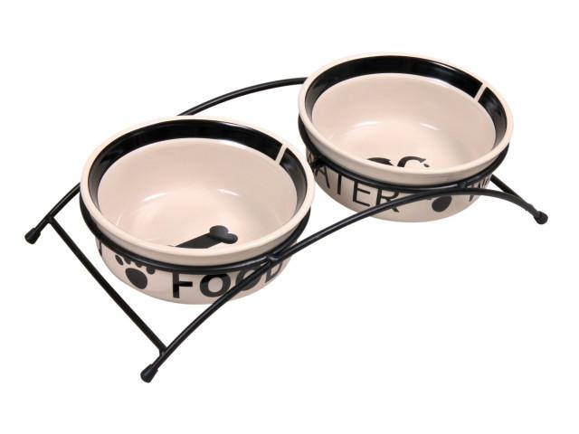 Trixie Castron Ceramica Set 2 buc In Suport 0.6 l/15 cm 24641 [0]