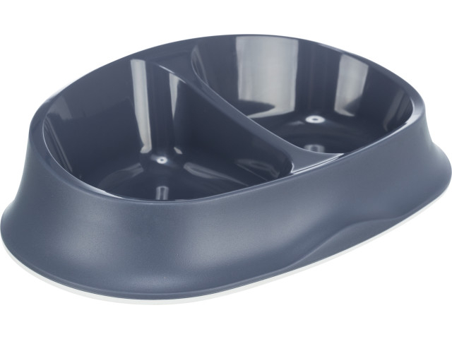 Trixie Castron Plastic Dublu 2x0.25l/10x12cm/27x7x18cm albastru 24966 [2]