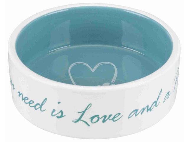 Trixie Castron ceramic Pet's Home 1.4 l/ 20 cm crem/verde 25052 [0]