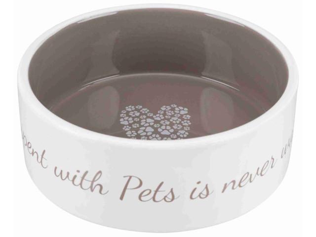Trixie Castron ceramic Pet's Home 0.8 l/ 16 cm crem/taupe 25054 [1]
