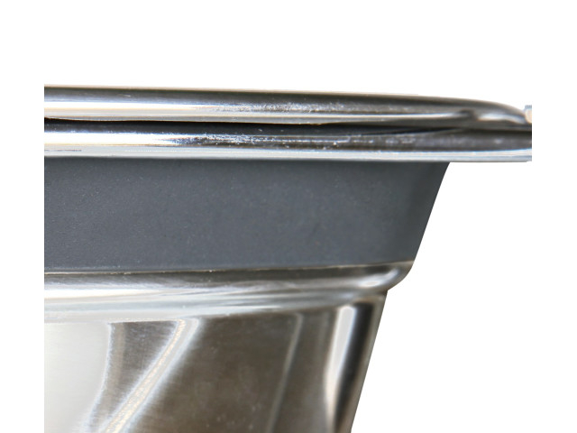 Trixie Castron Inox Dublu 2x1.5 l/21 cm cu Suport 25233 [1]