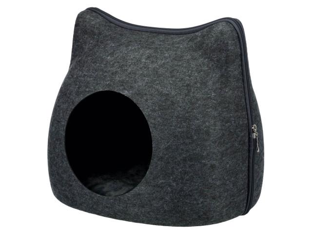 Trixie Cos Pestera Pisica cu Fermoar Gri 38x35x37 cm 36318 [0]