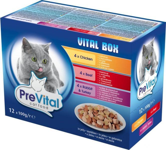 Hrana Umeda Pentru Pisici PreVital in Jeleu 100g [0]