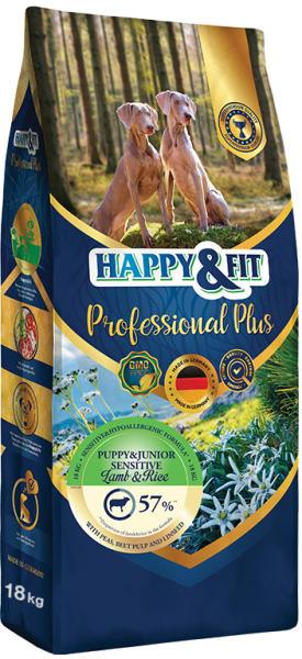 HAPPY&FIT PROFESSIONAL PLUS PUPPY&JUNIOR SENSITIVE HIPOALERGENICA MIEL&OREZ 18KG [0]