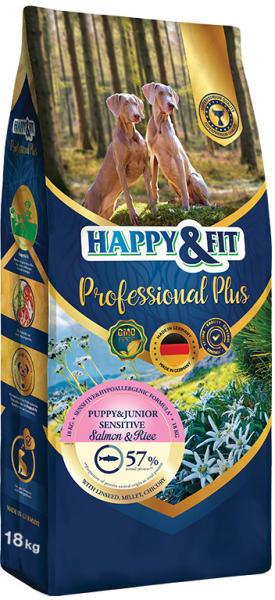 HAPPY&FIT PROFESSIONAL PLUS PUPPY&JUNIOR SENSITIVE HIPOALERGENICA SOMON&OREZ 18KG [0]