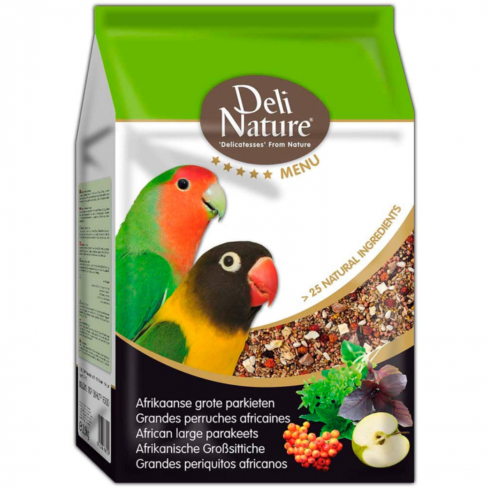 Hrana Completa Pentru Papagali Mari Africani Deli Nature Menu 800g [0]