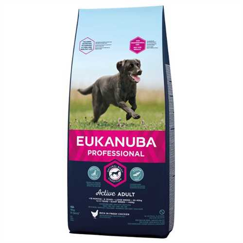 Eukanuba Active Adult Large Breed cu Pui 18 kg [0]