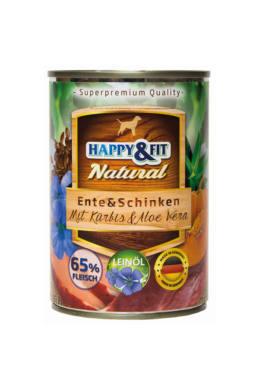 HAPPY&FIT NATURAL Adult Carne de Rata&Sunca cu Dovleac&ALOE VERA 400G [0]