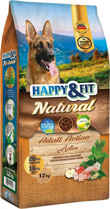HAPPY&FIT NATURAL ADULT ACTIVE 12KG [0]