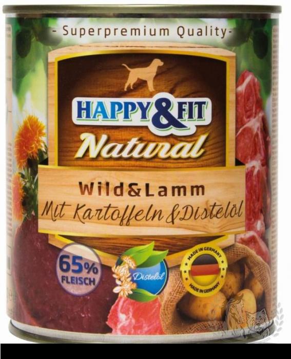 HAPPY&FIT NATURAL Adult Vanat&Miel Cu Cartofi&Ulei de Sofranel 800G [0]