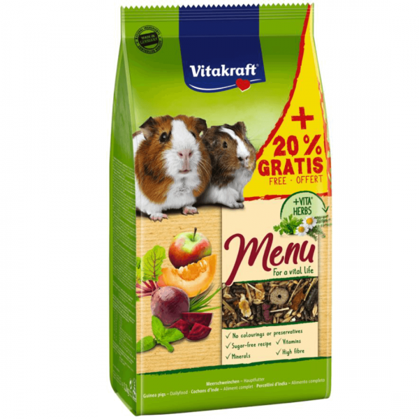Hrana Pentru Porcusori de Guineea Vitakraft Premium Menu 1kg+20% Gratis [0]
