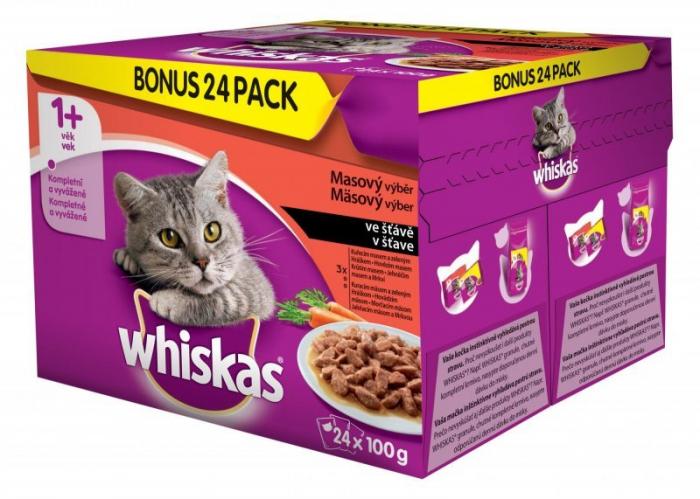 Hrana umeda pentru pisici Whiskas, Carne si legume, 24x100g [0]
