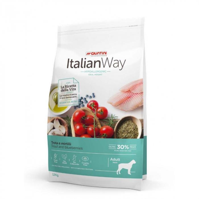Italian Way Caini Pastrav si Afine Hypoalergenic Adult Maxi 12kg [0]