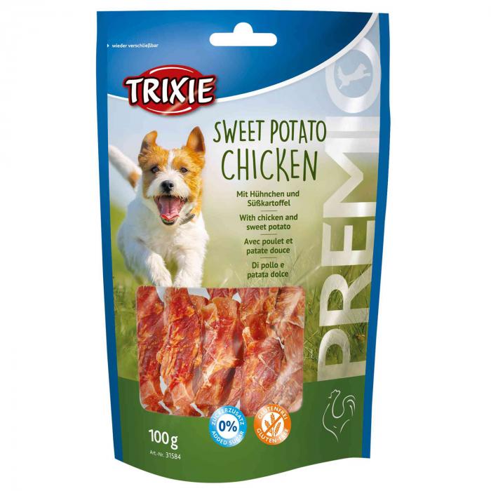 Recompensa Trixie Premio Fisii cu Cartof Dulce si Pui 100 g 31584 [0]