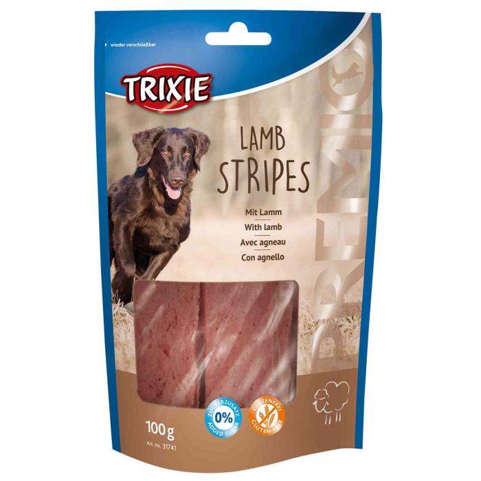 Recompensa Trixie PREMIO Lamb Stripes 100g [0]