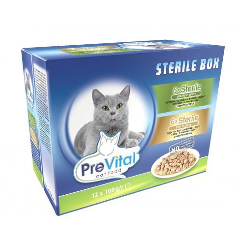 Hrana Umeda Pentru Pisici Sterilizate PreVital 100g [0]