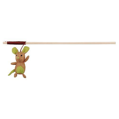 Trixie Jucarie Undita cu soarece cu maner de lemn [0]
