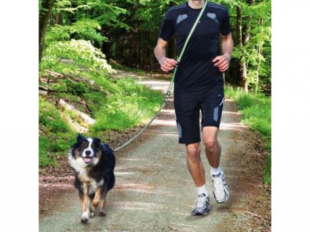 Trixie Lesa Jogging cu Amortizor 1.33-1.80 m/20 mm Verde/Negru 12763 [1]