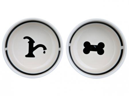 Trixie Castron Ceramica Set 2 buc In Suport 0.6 l/15 cm 24641 [1]