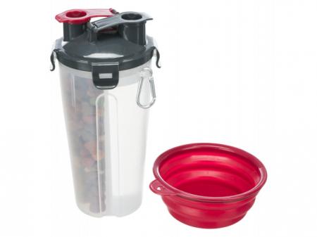 Trixie Recipient hrana si lichid, plastic, 2 x 350 ml/ø 11 x 23 cm 25019 [0]