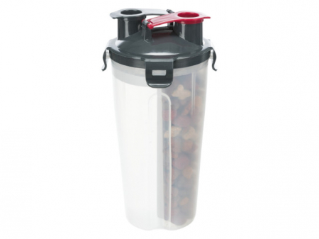 Trixie Recipient hrana si lichid, plastic, 2 x 350 ml/ø 11 x 23 cm 25019 [1]