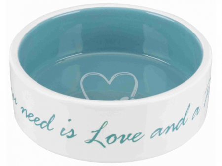 Trixie Castron ceramic Pet's Home 0.3 l/ 12 cm crem/verde 25050 [0]