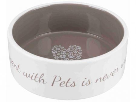 Trixie Castron ceramic Pet's Home 1.4 l/ 20 cm crem/taupe 25055 [0]