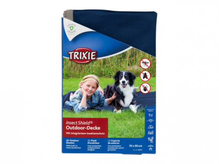 Trixie Patura cu Protectie Contra Capuselor 70x50 cm Albastru 28562 [1]