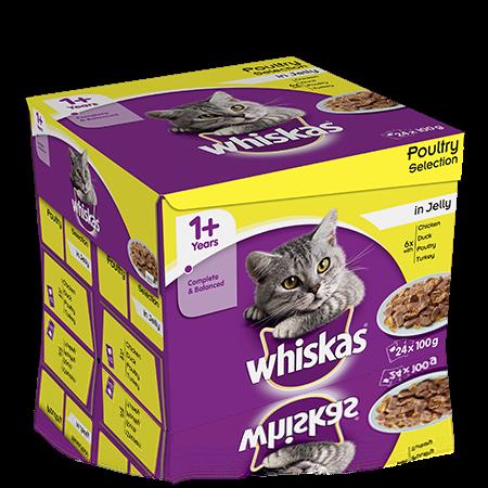 Hrana umeda pentru pisici Whiskas, Pasare, 24x100g [0]