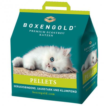 Asternut Igienic pentru Pisici din Fibra Naturala, Formeaza Bulgari, Boxengold, Peleti, 5 kg [0]