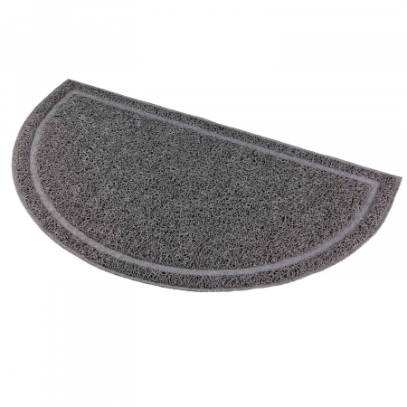 Trixie Covoras in fata litierei, antiderapant, semi-cerc, PVC, 59 × 35 cm, anthracit 40386 [1]