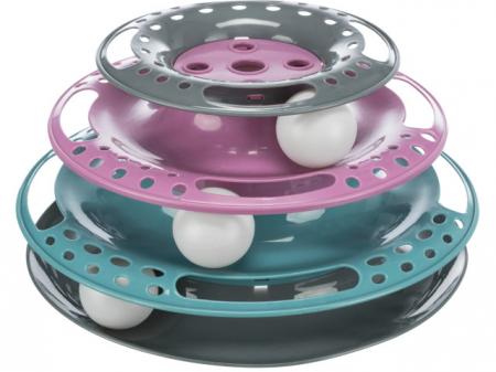 Trixie Jucarie Pisica Circuit cu Turn Plastic 25x13 cm 41345 [1]