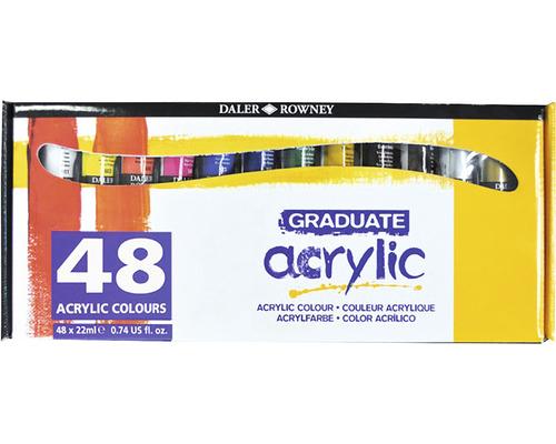 Set 48 culori acrilice Graduate 48x22 ml [1]