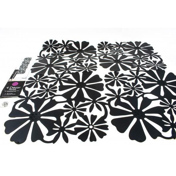 Panou decorativ din plastic - model floral 4buc/Set [1]