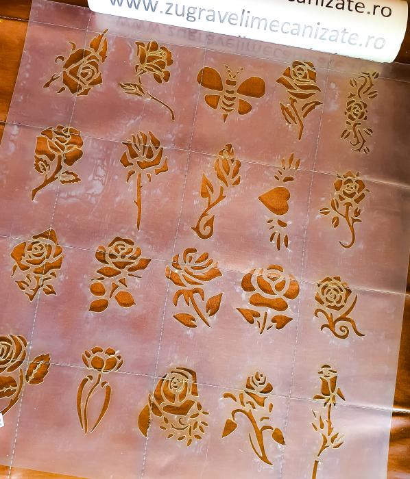 Set Sabloane Trandafiri 45x40cm [0]