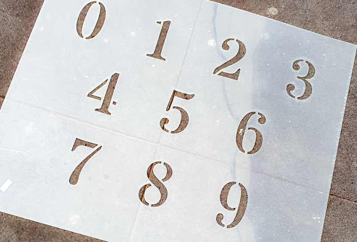 Sabloane decorative pentru pictura - Cifre 0-9 [1]