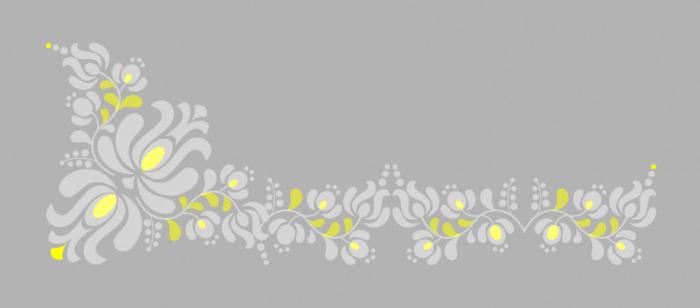 Sablon Refolosibil Panonian Folk Motif 340*150mm - SP104 [1]