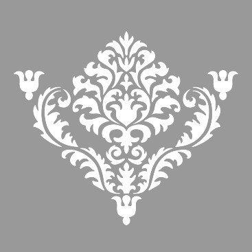 Sablon Refolosibil Repetitiv Flower Damask 590*590mm - SP84 [3]