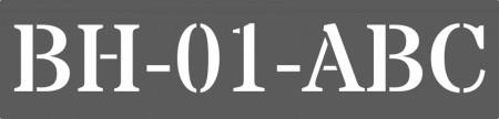 Sablon Refolosibil Parcare Domiciliu - Personalizat [0]