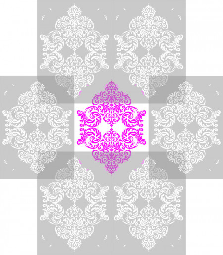 Sablon Refolosibil Repetitiv Damask 820*590mm - SP76-1 [1]