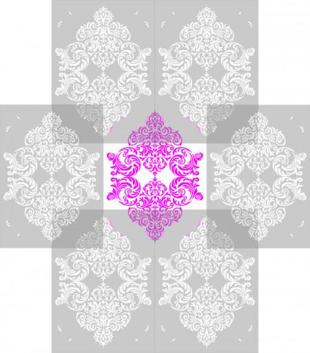 Sablon Refolosibil Repetitiv Damask 820*590mm - SP76-1 [3]