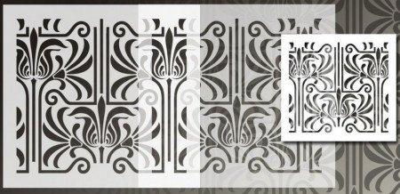 Sablon Refolosibil Repetitiv Lines Damask 590*550mm - SP81 [2]