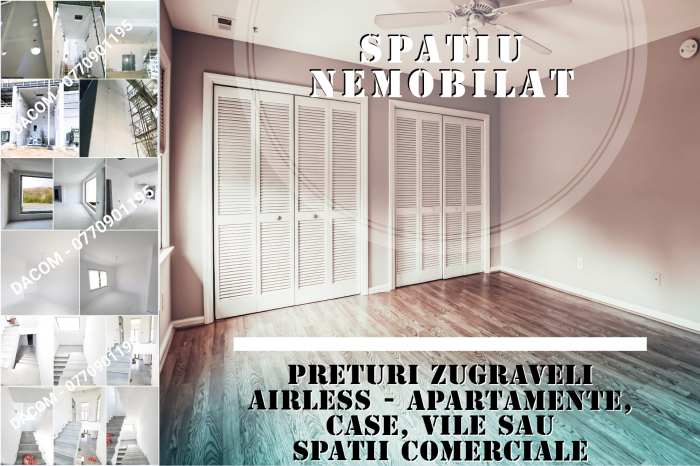 Spatiu nemobilat - RENOVARI ZUGRAVELI AIRLESS - apartamente, case, vile sau spatii comerciale [0]