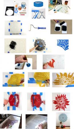 Set 5 Șabloane decorative pentru pictat pereți [4]