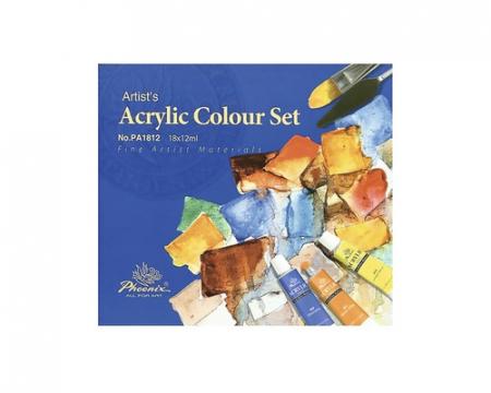 Set 18 culori acrilice Phoenix 18x12 ml [1]