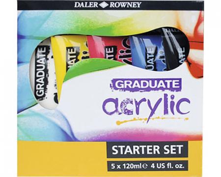 Set 5 culori acrilice Graduate 5x120 ml [2]