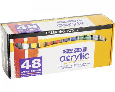 Set 48 culori acrilice Graduate 48x22 ml [2]